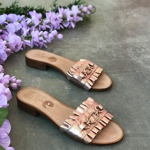 Kate Spade New York Rose Gold Leather Sandals 8.5